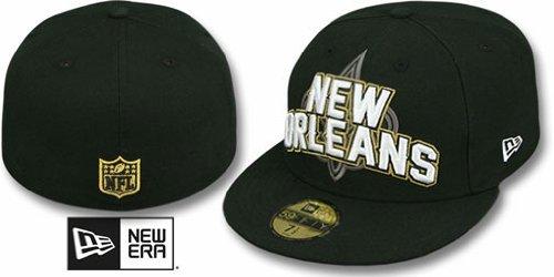 メッセンジャードックささいな新しいOrleans Saints New Era 5950選手Fittedサイズ7帽子キャップNFL Authentic &新しい – Brees