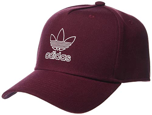 Maroon Womens Hat - adidas Men's Originals Dart Precurve Snapback Cap, Maroon/White, One Size