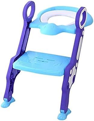 Hammer Inodoro for bebés: Taburete de Entrenamiento Ajustable, con Escalera, Antideslizante, Resistente, Asiento de Inodoro for niños, Almohadilla de PVC, Asiento de Inodoro Plegable for Lavabo: Amazon.es: Hogar