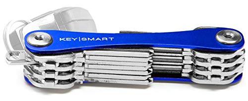 KeySmart - Compact Key Holder and Keychain Organizer (up to 22 Keys, Blue)