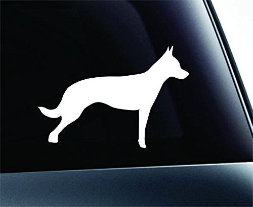(Dutch Shepherd Dog Symbol Decal Paw Print Dog Puppy Pet Family Breed Love Car Truck Sticker Window (White), Decal Sticker Vinyl Car Home Truck Window Laptop)