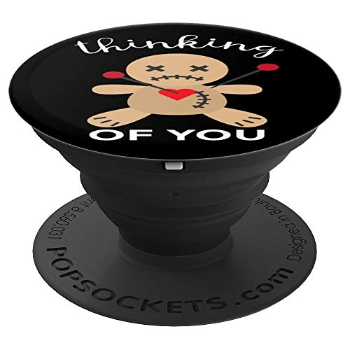 Halloween Voodoo Doll Thinking You - PopSockets Grip and Stand for Phones and Tablets