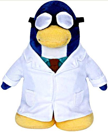 Disney Series Penguin Club - Disney Club Penguin 6.5 Inch Series 5 Plush Figure Gary the Gadget Guy (Includes Coin with Code!)