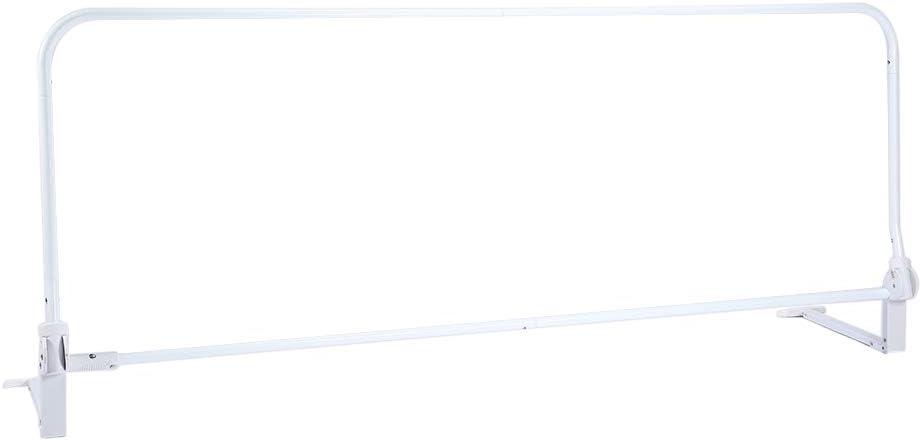 SOULONG Barri/ères de Lit Enfant Rail de Lit Pliable et Hauteur R/églable Protection de Lit Portable pour S/écurit/é des B/éb/é 150cm, Bleu 150//180cm