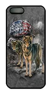 Pride Rock Wolf Polycarbonate Hard Diy For Iphone 4/4s Case Cover Black