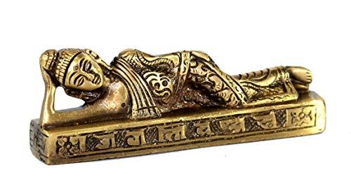 (eSplanade Brass Buddha - Meditating Buddha - Showpiece | Home Decor | Brass Metal Idol Statue Figurine Murti (Buddha Reclining))