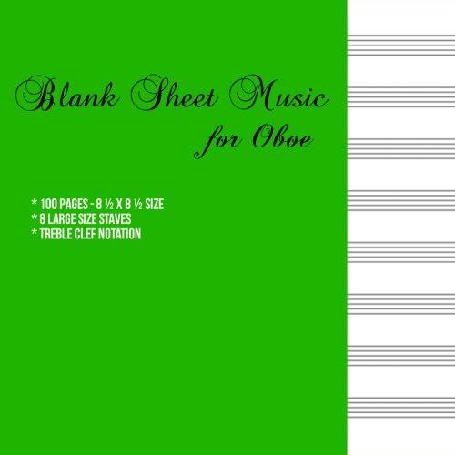 Blank Sheet Music for Oboe