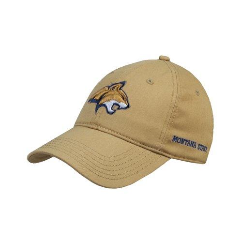 慈悲深い怪物信号Montana State VegasゴールドTwill Unstructured Low Profile帽子「公式ロゴ – Bobcatヘッド'