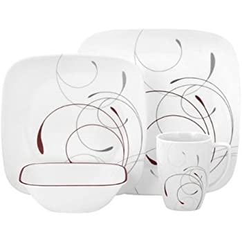 Corelle Square 32-Piece Dinnerware Set Splendor Service for 8  sc 1 st  Amazon.com : corelle 32 piece dinnerware set - pezcame.com