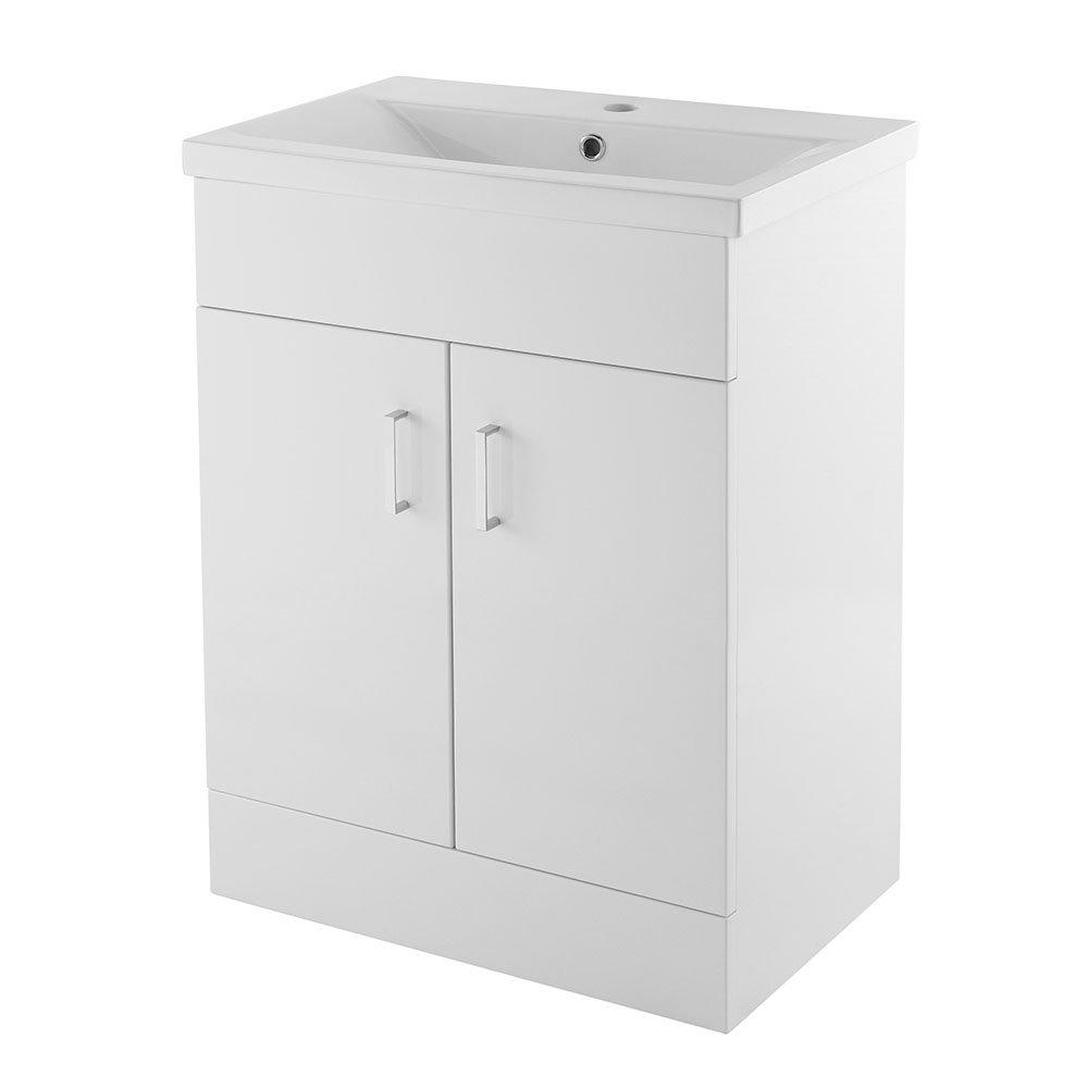 Premier VTMW600 Eden Vanity Units, Gloss White, 600 mm