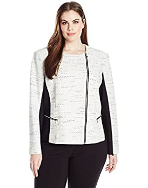 Women's Tweed Jaquard Jacket