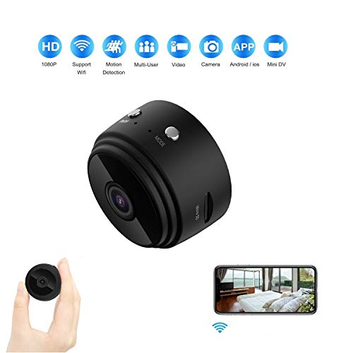 Mini Wireless Spy Hidden Camera Cam IP WiFi Nanny Camera Full HD 1080P Infrared Night Version ,Motion Sensor, 32GB SD Card Included,Remote Control Video Recorder-Mini Spy Camera