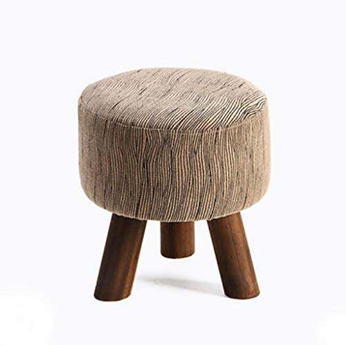FAFZ Sofa Stool Solid Wood Shoe Bench Fabric Living Room Footstool Simple Modern Shoe Bench (Color : ()