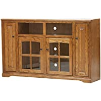 Eagle Oak Ridge Tall TV Console, 66 Wide, Concord Cherry Finish