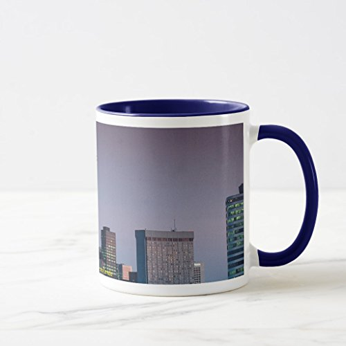 Zazzle Toronto, By Night, Ontario, Canada Coffee Mug, Navy Blue Combo Mug 11 - Canada 4121