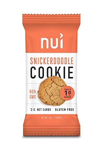 Keto Cookies, Low Carb Snacks: Snickerdoodle Cookies by Nui - 1g Net Carbs, 8 Pack (16 cookies)
