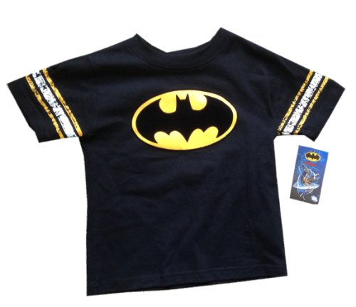 Batman - Logo - Adorable Black Soccer Style Toddler / Small Youth T-shirt - size 3T