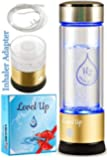Level Up Way - Hydrogen Water Bottle Generator - New Technology Glass Water Ionizer - SPE Ionic Membrane - High…