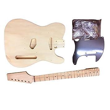 Coban Guitars HY190BR Guitarra Eléctrica Kit construcción para estudiante & Luthier Proyectos - Negro Accesorios,
