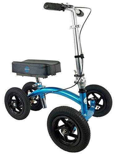 Rover Walker Range - NEW KneeRover QUAD Jr All Terrain Knee Walker in Metallic Blue
