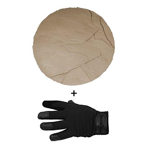 SpidaStamp & SpidaGlove | Concrete Texturing System for Stepping Stones, Landscape Edging, or Decorative Concrete. Texas Stone Textures. (Desert Flagstone)