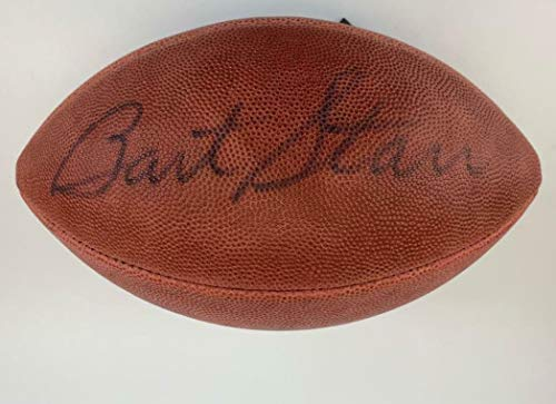 Bart Starr Signed Official Wilson Authentic Packers Football Letter auto - JSA Certified - NFL Autographed Miscellaneous Items Bart Starr Autographed Nfl Football