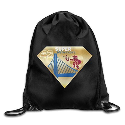SuperWarriors And Cavs 42 Nate Thurmond Drawstring Backpack GYM Bag