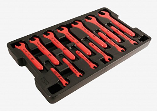 Wiha 20194 1/4-Inch to 1-Inch Insulated Wrench Set in Molded Storage Tray, 13-Piece