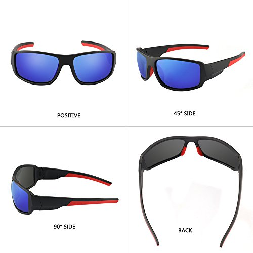 Men's Cycling Outdoor Sports Polarized Sunglasses 100% UV protection Unbreakable TR90 Frame Glasses by JIANGTUN (Image #3)
