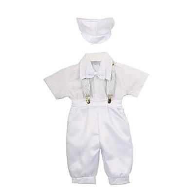 Rain Kids Baby Boys White Satin Shorts Cotton Shirt Baptism Outfit Set 6-12M