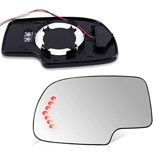 SCITOO Compatible fit for Set Exterior Mirror Replacement Glasses Left+Right LH RH Side Power Heated Signal 2003-2007 Chevrolet Silverado Suburban GMC Sierra Yukon Replacement Tow Mirror Glass