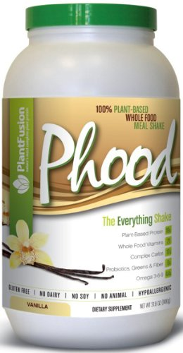 À base de plante complète substitut de repas sans gluten, sans produits laitiers, sans soja, sans animaux, Hypoallergenic- Phood £ 2. Vanille (20 portions)