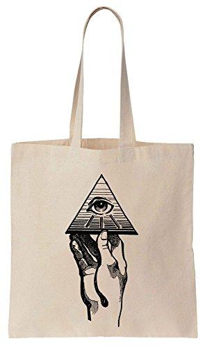 ILLUMINATI Pyramid in Hand Sacchetto di cotone tela di canapa