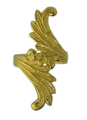 (Prince of Diamonds Inc Final Fantasy 8 Rinoa Siren wings Ring Sterling silver .925 (Gold Plated over)