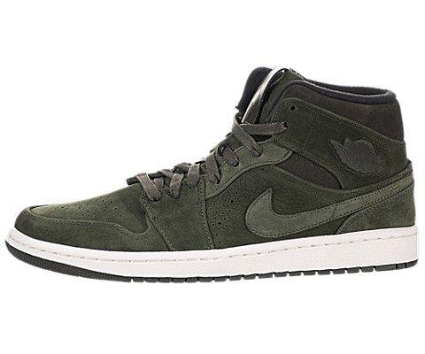 Nike Mens Air Jordan 1 Mid Nouveau Leather Basketball Shoes