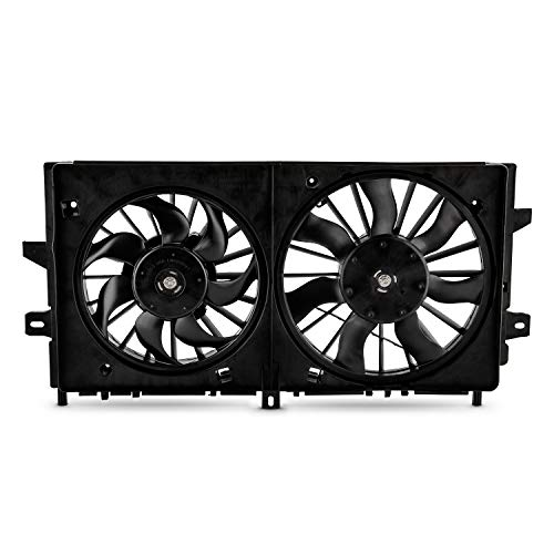 Radiator Dual Fan Fits 2005-2008 Buick LaCrosse 2006-11 Chevy Impala 06-07 Monte Carlo Condenser Cooling ()