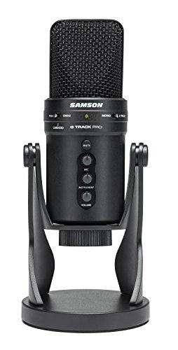 Samson G-Track Pro - Professional USB Microphone with Audio Interface - Black