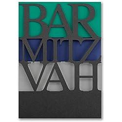 475pk Color Bands - Bar Mitzvah - Invitation-Bar & Bat Mitzvah Invitations