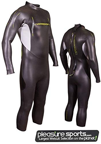 NeoSport Men's Triathlon Full Suit, Black/Yellow, Large - Triathalon, Swimming & Racing ()