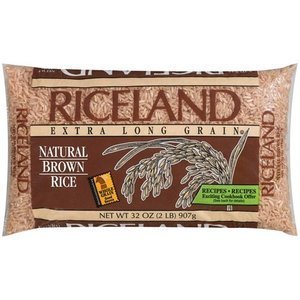 Riceland Natural Brown Rice Extra Long Grain 2 LB (Pack of 15) by Riceland