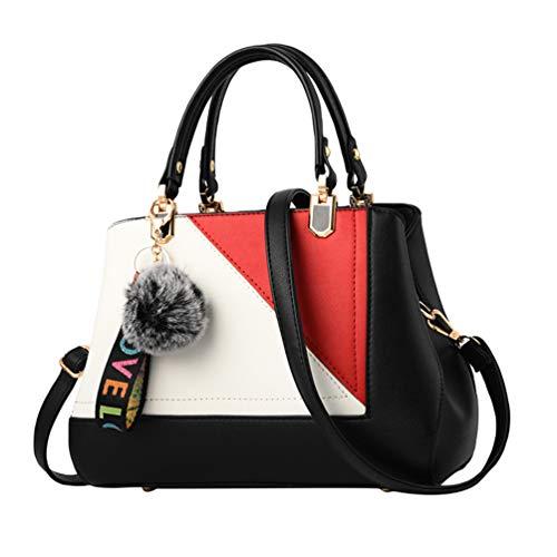 YAANCUN Handbags Shoulder Bags Womens Casual Tote Crossbody Bags Multi-functional Pocket Black