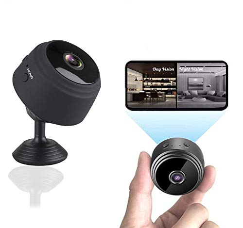Mini Spy Camera with Audio,Wireless WiFi Hidden Mini Camera 1080P HD Home Security Cams with Cell Phone App, Portable Tiny Nanny Cam with IR Night Vision,for Indoor or Outdoor,2021 Latest App