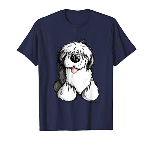 Happy Old English Sheepdog Tshirt For A Dog Or Bobtail Lover