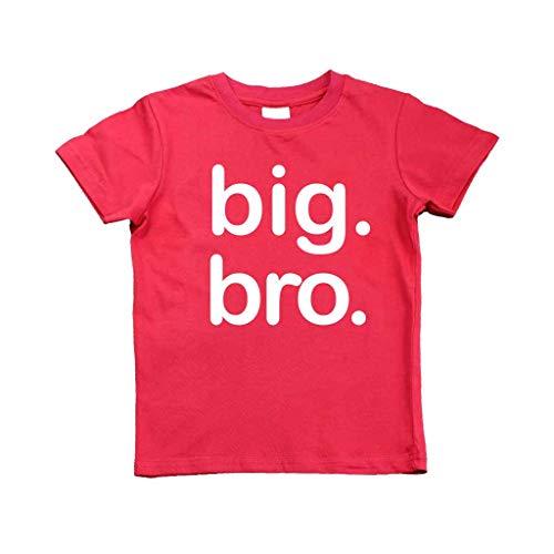 (Boys Big bro Shirt, Boys Big Brother Shirt, Big Brother Announcement Shirt, Big Brother t Shirt, Big Brother Gift, Toddler Gift, only Child expire Shirt (12m, Red))