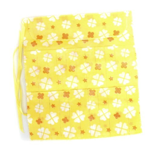 Knit Storage - Fjs 22 Slots Circular Knitting Crochet Needle Hook Organizer Bag Holder Case Pouch Flower Print - Organizer Holder Crochet Pouch Hook Storage Bags Fimo Crochet Handbag Embroidery S