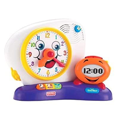 Fisher-Price Fun-2-Learn Teaching Clock: Toys & Games