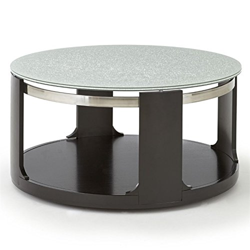 Steve Silver Croften Cracked Glass Cocktail Table with casters