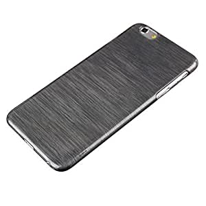 diy case Ultra Thin Brushed Case PC Hard Back Cover for iphone 4 4s (Black)