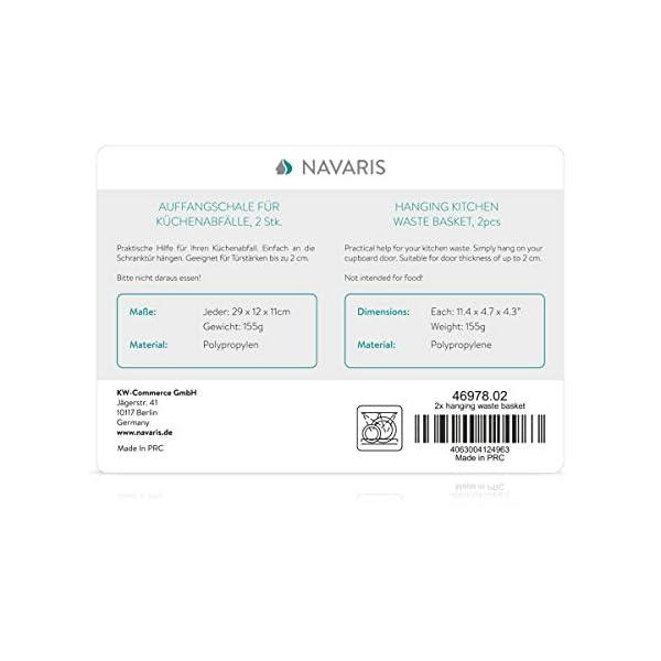 41ewOMKyVLL Navaris 2x Auffangschale für Küchenabfälle zum Einhängen - 2er Set Mülleimer Abfall Behälter für Bio Müll - Abfalleimer…