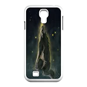 Unique Design -ZE-MIN PHONE CASE- For SamSung Galaxy S4 Case -Wolf,Wolves and Moon Pattern-CUSTOM-DESIGH 7